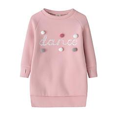 billige Babytøj-Baby Pige Aktiv / Gade Daglig / I-byen-tøj Prikker / Trykt mønster Langærmet Rayon Kjole Lyserød