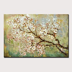 cheap -Oil Painting Hand Painted - Landscape / Floral / Botanical Modern Rolled Canvas