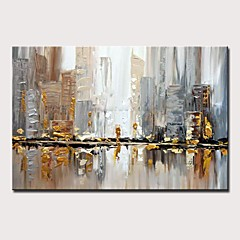 cheap -Oil Painting Hand Painted - Abstract / Landscape Modern Rolled Canvas