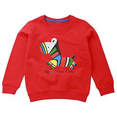 billige Hættetrøjer og sweatshirts til piger-Baby Pige Aktiv Daglig Ensfarvet / Geometrisk Trykt mønster Langærmet Normal Polyester Hættetrøje og sweatshirt Gul
