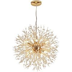 QIHengZhaoMing 9-Light sputnjik Privjesak Svjetla Ambient Light Electroplated Metal Crystal, Zaštita očiju 110-120V / 220-240V Meleg fehér Bulb Included / G9