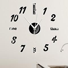 رخيصةأون ساعات الحائط-ساعة الحائط,ستايل حديث بلاستيك دائري داخلي