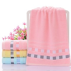 billige Hjemmetekstiler-Overlegen kvalitet Badehåndkle, Ensfarget Ren bomull Baderom 1 pcs