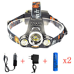 cheap Camping, Hiking & Backpacking-Headlamps Safety Light Headlight LED LED Emitters 13000 lm 1 Mode with Batteries and Chargers Anglehead, Suitable for Vehicles, Super Light Camping / Hiking / Caving, Everyday Use, Cycling / Bike