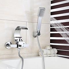 Duschkran / Badkarskran - Nutida Krom Väggmonterad Keramisk Ventil Bath Shower Mixer Taps