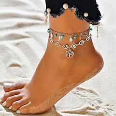 billige Kropssmykker-Dame fotlenke - Sølvplett livstreet Tropisk Smykker Sølv Til Bryllup Karneval Stevnemøte Gate Bikini
