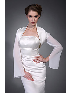 cheap Wedding Wraps-Half Sleeves Polyester Party / Evening Women's Wrap With Embroidery Coats / Jackets