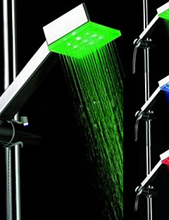 עכשווי שפורפרת יד למקלחת כרום מאפיין for  LED , ראש המקלחת