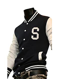 billige Løbetøj-Patchwork Bomber-jakke - Blå, Sort, Rød Sport Bogstaver Sportstøj