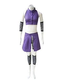 """billige Anime Kostymer-Inspirert av Naruto Ino Yamanaka Anime  """"Cosplay-kostymer"""" Cosplay Klær Lapper Ermeløs Vest Ermer Midje Tilbehør Beinvarmere Shorts Til"""