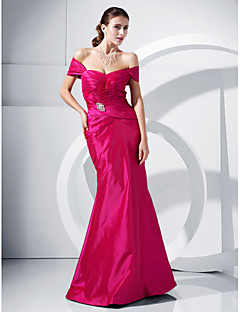 halpa -Merenneito / trumpetti off-the-shoulder lattian pituus taffeta prom mekko kristalli ts couture®