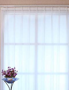 baratos Coleções de Janela-Dois Painéis Tratamento janela Modern, Estampado Sólido Poliéster Material Sheer Curtains Shades Decoração para casa