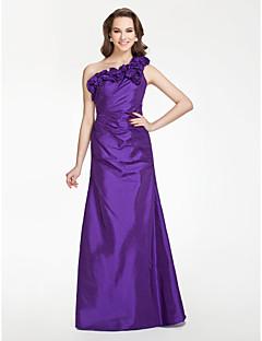 billige Lilla lidenskap-ZELENE - kjole til brudepike i Taffeta