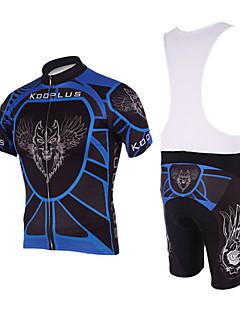 Kooplus Camisa com Bermuda Bretelle Homens Manga Curta Moto Calções Bibes Shorts Acolchoados Camisa/Roupas Para Esporte Conjuntos de