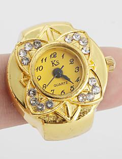 billige Blomster-ure-Dame Quartz Ringur Japansk Afslappet Ur Legering Bånd Blomst / Vintage Guld