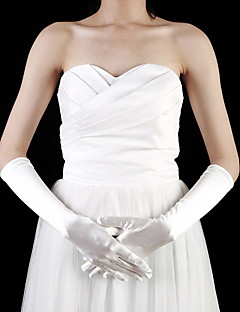 cheap Top Sellers-Satin Elbow Length Fingertips Flower Girl Gloves (More Colors)