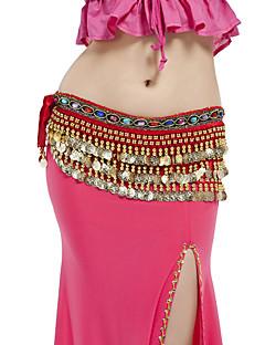 Dans din Buric Centură Pentru femei Performanță Poliester Ornamente Mărgele Monede 1 Bucată Șalul de Șolduri pentru Dans din Buric