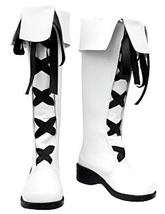 billige Anime Cosplay Sko-Cosplay støvler inspirert av gjenfødt! varia belphegor hvit