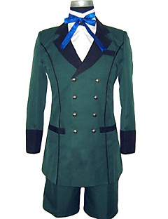 cheap Anime Costumes-Inspired by Black Butler Ciel Phantomhive Anime Cosplay Costumes Cosplay Suits Solid Colored Long Sleeves Cravat Coat Shirt Shorts For