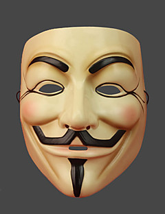 cheap Halloween Masks-V for Vendetta Mask Unisex Halloween Carnival New Year Festival / Holiday Halloween Costumes Print