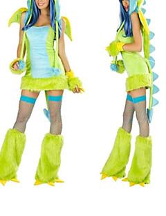 billige Halloweenkostymer-Dinosaur Cosplay Kostumer / Party-kostyme Dame Halloween / Karneval Festival / høytid Halloween-kostymer Lapper