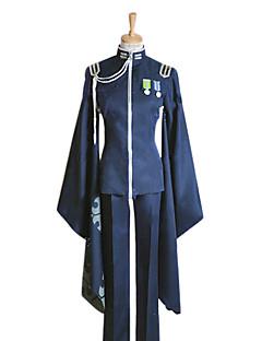"""billige Videospill cosplay-Inspirert av Vokaloid Kaito video Spill  """"Cosplay-kostymer"""" Cosplay Klær / Japansk Kimono Lapper Langermet Frakk / Bukser / Hansker Halloween-kostymer"""