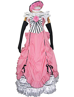cheap Anime Costumes-Inspired by Black Butler Ciel Phantomhive Anime Cosplay Costumes Cosplay Suits Dresses Patchwork Sleeveless Dress Gloves Bow More