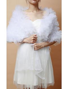 economico Stole da matrimonio-Senza maniche Tulle Matrimonio Da sera Wraps Wedding Scialli