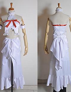 """billige Anime Kostymer-Inspirert av Sword Art Online Asuna Yuuki Anime  """"Cosplay-kostymer"""" Cosplay Klær Lapper Ermeløs Topp Kjole Armbind Til Dame"""