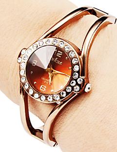 baratos -Mulheres Relógio de Moda Bracele Relógio Quartzo Lega Banda Brilhante Bracelete Elegantes Bronze