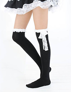 Socks/Stockings Classic/Traditional Lolita Lolita Lolita Black White Lolita Accessories Stockings Lace For Cotton