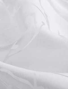 billige Gjennomsiktige gardiner-Et panel Window Treatment Land Blad Soverom Polyester Materiale Hjem Dekor