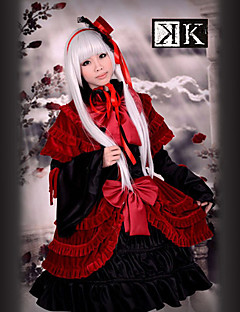 """billige Anime Kostymer-Inspirert av K Anna Kushina Anime  """"Cosplay-kostymer"""" Cosplay Klær / Kjoler Lapper Langermet Kjole / Sjal / Hatt Til Dame Halloween-kostymer / Satin"""