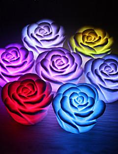 tanie Światła prezentów-kwiat róży doprowadziły światło nocy zmieniając kolory zmieniając romantyczną lampkę świecy