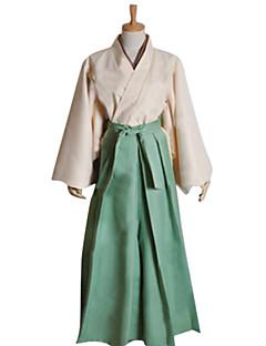 """billige Anime cosplay-Inspirert av Kamisama Kiss Mizuki Anime  """"Cosplay-kostymer"""" Cosplay Klær / Japansk Kimono Lapper Langermet Kimono Frakke / Hakama bukser Til Herre"""