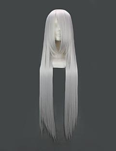 Cosplay Perukları Fate/zero Irisvie von Einzbern Gümüş Uzun Anime Cosplay Perukları 100 CM Isı Dirençli Fiber Kadın