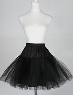 billiga Brudklänningsunderkjol-Underklänningar A-linjeformad Underkjol/klänning Balklänning Underkjol Kort 5 Tyllnät Taft Svart
