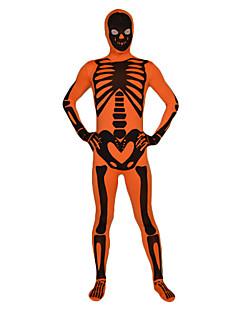 cheap Zentai Suits-Zentai Suits Ninja Zentai Cosplay Costumes Print Leotard / Onesie Zentai Lycra Men's Women's Halloween