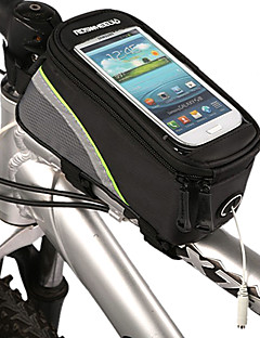cheap Bike Bags-ROSWHEEL Bike Frame Bag Cell Phone Bag 5.3 inch Waterproof Waterproof Zipper Touch Screen Cycling for iPhone 8/7/6S/6