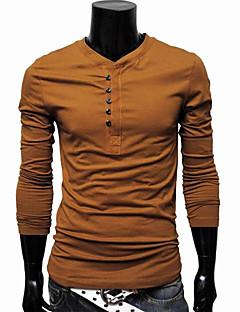 billige Herremote og klær-Bomull Tynn Store størrelser T-skjorte - Ensfarget Helg Herre