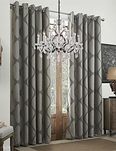 billige Forede Gardiner-gardiner gardiner Spisestue 100% Polyester Polyester Mønstret