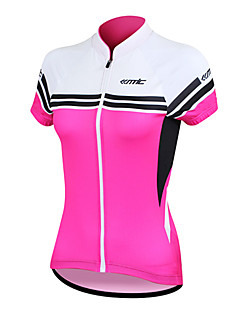 cheap Cycling Jerseys-SANTIC Women's Short Sleeves Cycling Jersey - Blue Pink Bike Jersey, Quick Dry, Anatomic Design, Ultraviolet Resistant, Breathable