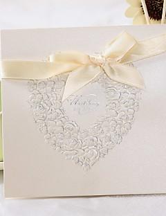 """preiswerte Spezial Angebote-Oberseite gefaltet Hochzeits-Einladungen Einladungskarten Klassicher Stil Geblühmter Style Perlenpapier 6""""×6"""" (15*15cm)"""