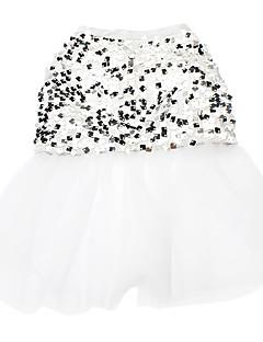 ネコ 犬 ドレス 犬用ウェア 結婚式 スパンコール ホワイト コスチューム ペット用