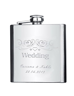 cheap Gifts Deals-Stainless Steel Hip Flasks Groom Groomsman Couple Parents Wedding Anniversary Birthday Graduation Thank You Business