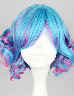 Lolita Wigs Punk Lolita Color Gradient Lolita Wig 35 CM Cosplay Wigs Patchwork Wig For