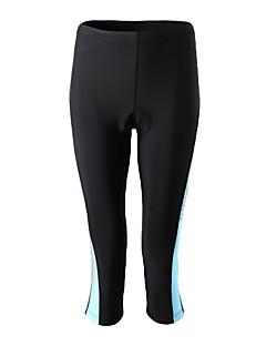 お買い得  サイクルウェア-SPAKCT 女性用 サイクリング用7部丈タイツ - 黒/赤 黒 / 青 バイク 3/4 タイツ, 速乾性