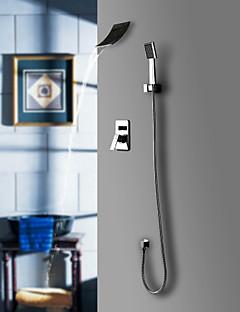 tanie Baterie prysznicowe Sprinkle®-Lightinthrbox Baterie prysznicowe Sprinkle® - Współczesny Chrom Wodospad / Powszechny / Mocowanie ścienne Pięć otworów
