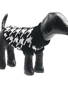 billiga Hundkläder-Hund Tröjor Hundkläder Pläd/Rutig Ull Kostym För husdjur Herr Dam Mode