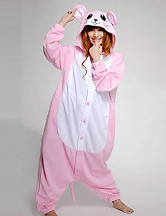billige Kigurumi-Voksne Kigurumi-pysjamas Mus Onesie-pysjamas Kostume Polar Fleece Rosa Cosplay Til Pysjamas med dyremotiv Tegnefilm Halloween Festival / høytid
